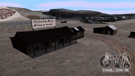 Atualizado snake farm para GTA San Andreas segunda tela