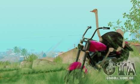 Ostrich From Goat Simulator para GTA San Andreas sexta tela