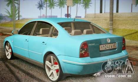 Volkswagen Passat para GTA San Andreas traseira esquerda vista