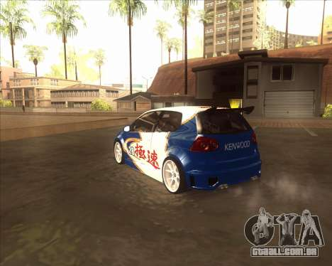 Volkswagen Golf из NFS Most Wanted para GTA San Andreas traseira esquerda vista