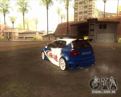 Volkswagen Golf из NFS Most Wanted para GTA San Andreas traseira esquerda vista