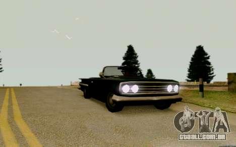 Voodoo Conversível (versão com faróis) para GTA San Andreas vista direita
