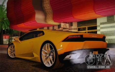 Lamborghini Huracan 2013 para GTA San Andreas vista direita