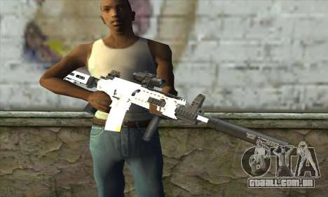 Golden M4A1 para GTA San Andreas terceira tela