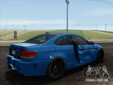 BMW M3 E92 2008 para GTA San Andreas interior