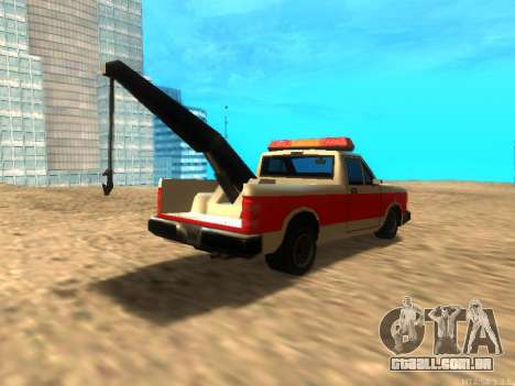 Novo Reboque (Bobcat) para GTA San Andreas vista direita