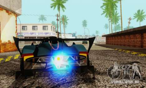 Pagani Zonda Type R Black para GTA San Andreas vista traseira