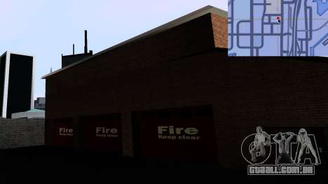 Updated San Fierro Fire Dept para GTA San Andreas por diante tela