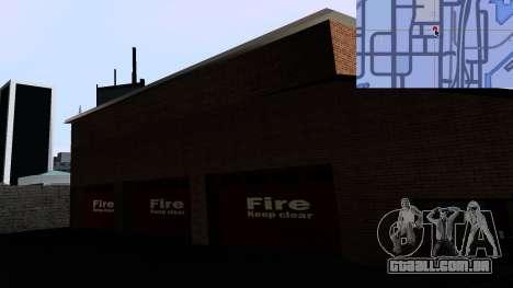 Updated San Fierro Fire Dept para GTA San Andreas por diante tela