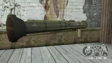 AT4 Rocket Launcher para GTA San Andreas segunda tela