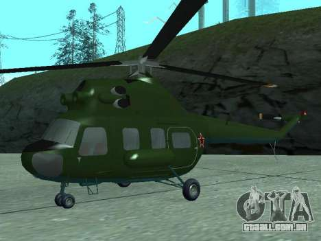 Mi 2 militares para GTA San Andreas esquerda vista