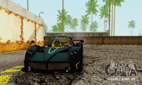 Pagani Zonda Type R Black para GTA San Andreas esquerda vista