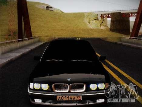 BMW 730d E38 1999 para GTA San Andreas vista direita