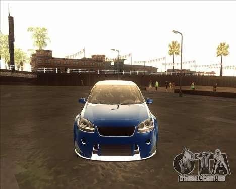 Volkswagen Golf из NFS Most Wanted para GTA San Andreas esquerda vista