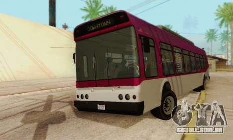 O trânsito de Ônibus из GTA 5 para GTA San Andreas traseira esquerda vista