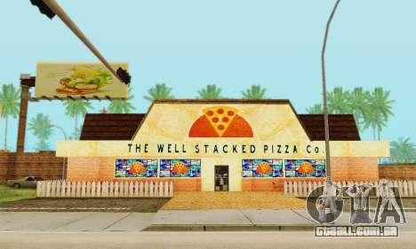 A nova textura pizzarias e comodidades Iludem para GTA San Andreas nono tela