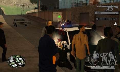 C-HUD Smoke para GTA San Andreas por diante tela