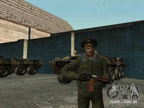 O tenente-Coronel das tropas Internas para GTA San Andreas