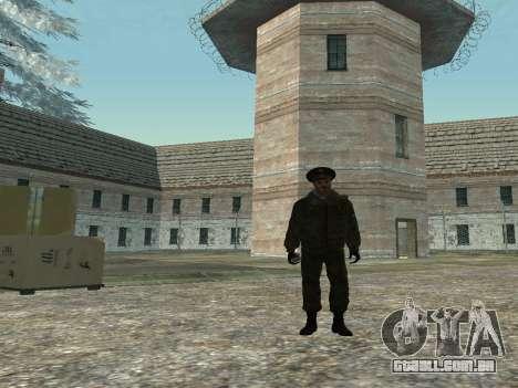 O tenente-Coronel das tropas Internas para GTA San Andreas segunda tela