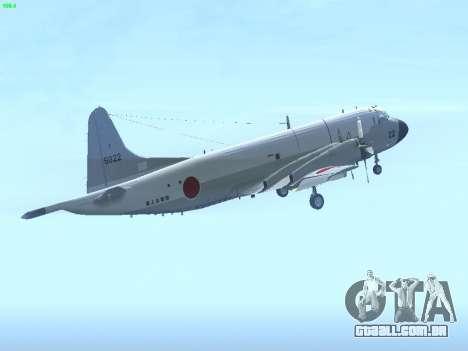 Lockheed P-3 Orion FAJ para GTA San Andreas vista direita