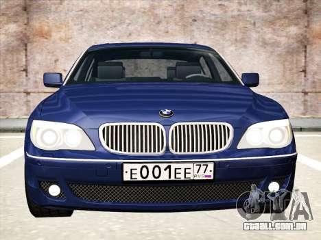 BMW 760Li para GTA San Andreas esquerda vista