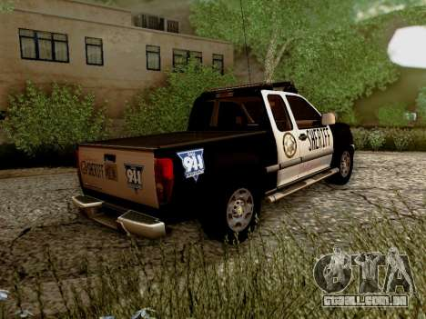 Chevrolet Colorado Sheriff para GTA San Andreas vista direita