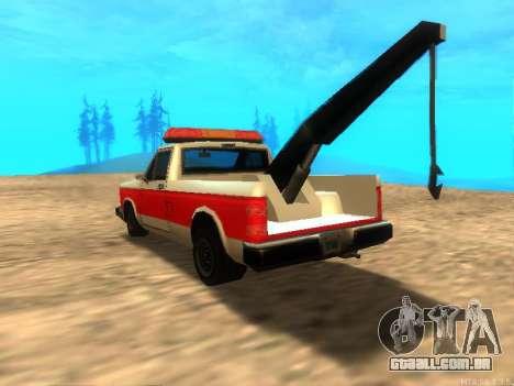 Novo Reboque (Bobcat) para GTA San Andreas traseira esquerda vista