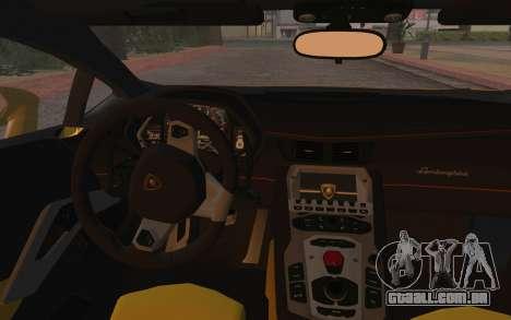 Lamborghini Huracan 2013 para GTA San Andreas vista interior