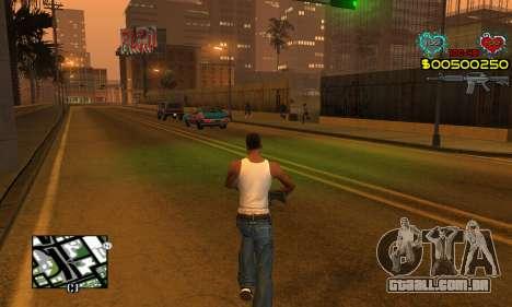 C-HUD New Liberia para GTA San Andreas