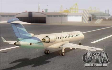 Garuda Indonesia Bombardier CRJ-700 para GTA San Andreas esquerda vista