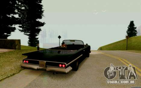 Voodoo Conversível (versão com faróis) para GTA San Andreas traseira esquerda vista