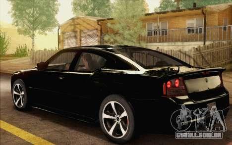 Dodge Charger SRT8 2006 para GTA San Andreas esquerda vista