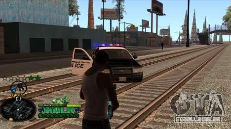 C-HUD Hulk para GTA San Andreas quinto tela
