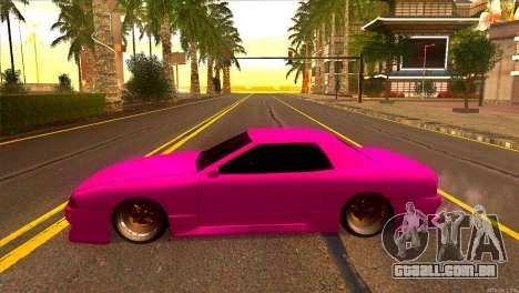 Elegy New Drifter v2.0 para GTA San Andreas esquerda vista