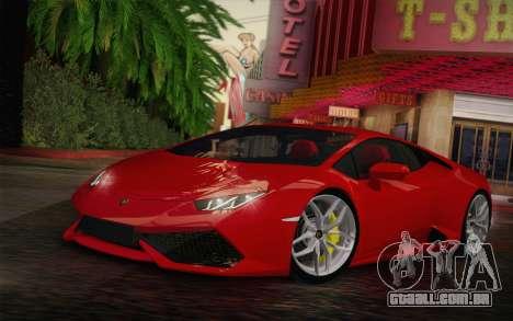 Lamborghini Huracan 2013 para GTA San Andreas