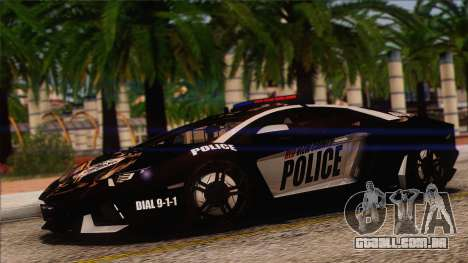 Lamborghini Aventador LP 700-4 Police para GTA San Andreas vista superior