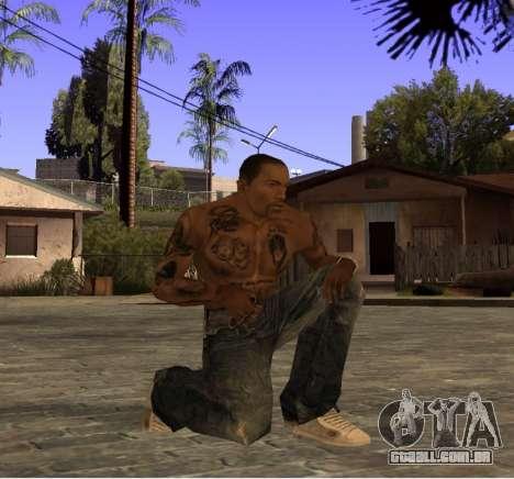 Uma calça jeans nova, por CJ para GTA San Andreas terceira tela