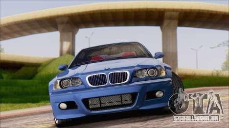 BMW M3 E46 2002 para GTA San Andreas esquerda vista