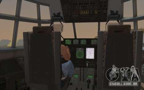 C-130H Hercules para GTA San Andreas vista interior