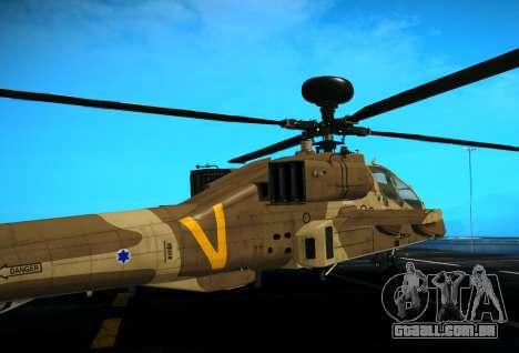 AH-64 Longbow Apache para GTA San Andreas vista direita