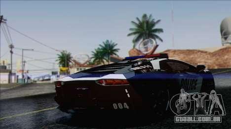 Lamborghini Aventador LP 700-4 Police para GTA San Andreas esquerda vista
