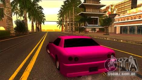 Elegy New Drifter v2.0 para GTA San Andreas traseira esquerda vista