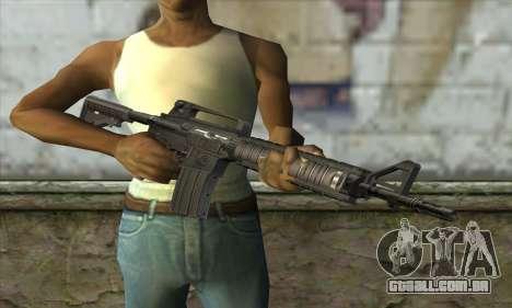 M4A1 para GTA San Andreas terceira tela