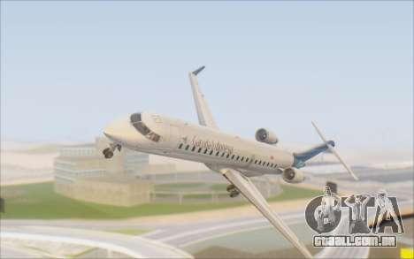 Garuda Indonesia Bombardier CRJ-700 para GTA San Andreas vista interior