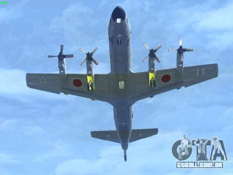 Lockheed P-3 Orion FAJ para GTA San Andreas traseira esquerda vista