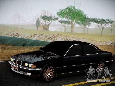 BMW 730d E38 1999 para GTA San Andreas traseira esquerda vista