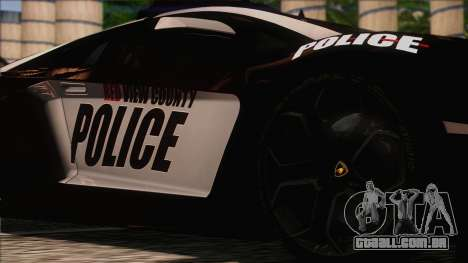 Lamborghini Aventador LP 700-4 Police para GTA San Andreas vista traseira