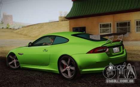 Jaguar XKR-S GT 2013 para GTA San Andreas esquerda vista