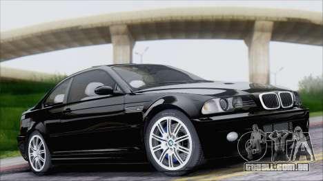 BMW M3 E46 2002 para GTA San Andreas vista interior