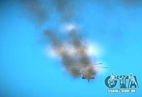 AH-64 Longbow Apache para GTA San Andreas vista traseira